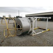 Used 80 Cubic Feet Stainless Steel Hopper Silo Bin