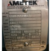 Used 20 HP Ametek Rotron Regenerative Blower DR14BH72MW [PARTS]