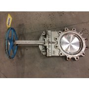 "Used 10"" Manual Stainless Steel Knfe Gate Valve"