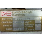 Used 75HP David Brown Radicon Gear Motor Speed Reducer Drive (18:1 ratio)