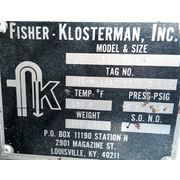 Used Fisher-Klosterman Stainless Steel Cyclone Separator