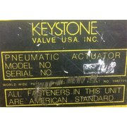 "Used 12"" 316 Stainless Steel Keystone Butterfly Valve"