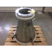 Used Stainless Steel Cone Hopper - 5.5 cu/ft
