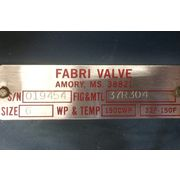 "Used 6"" Fabri Valve Stainless Steel Knife gate"