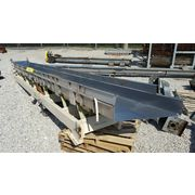 "Used Cardwell 24"" wide x 24' long Stainless Steel Vibrating Shaker Conveyor"