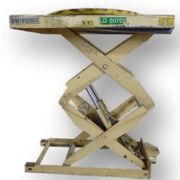 Used 2,500 lb capacity Southworth Electric Scissor Lift Table Model PLSH2-64