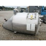 Used Stainless Steel Oblique Hopper (Double Wall) - 65 cu/ft