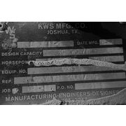 "Used 16"" dia. X 16' long KWS manufacturing Stainless Steel Screw Auger Conveyor"