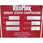 Used RedMax 50HP Rotary Screw Compressor w/ Airtek Regenerative Air dryer