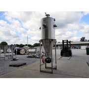 "Used 37 cubic foot MAC Stainless Steel Bin Hopper w/ 8"" Rotary Airlock Valve"