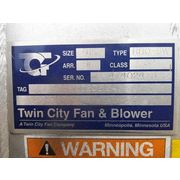"5,500 CFM @ 8"" SP Used Twin City high temp Stainless Industrial Fan RBO 915"