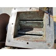 "Used 8"" square Meyer Rotary Valve - Carbon Steel"
