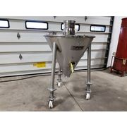 "Used 7 cubic foot 40"" dia. Anderson & Dahlen Sanitary Stainless Steel Hopper"