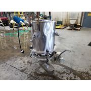 "Used 20"" dia. Stainless Steel Live Bottom Bin"