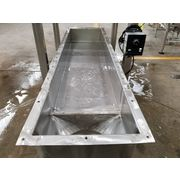 "Used 12"" W x 4' Long Eriez Stainless Steel Vibrating Pan Feeder - 66C"