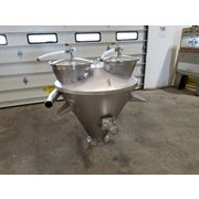Used 250 Cubic Foot Stainless Sanitary Hopper w/ Bin Activator Live bottom
