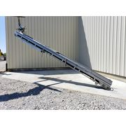 "Used Cleated Incline Belt Conveyor 16"" wide x 24' long stainless frame & drive"