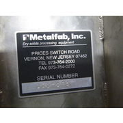 "Used METALFAB 8"" Diameter [Center discharge] Stainless Steel Screw Conveyor"