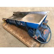 "Used 18"" wide x 53"" long FMC Syntron Vibrating stainless Pan Feeder"