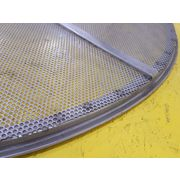 "Used Round Perf Plate, 48"", 1/8"