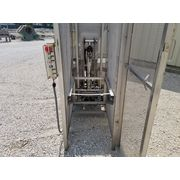 "Used Stainless Steel Sanitary SEM 3.5"" dia. Twin Screw Feeder with Cart Dump"