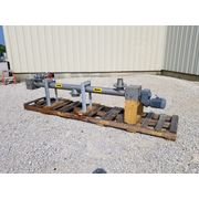 "Used 4"" dia. X Center Feed Stainless Steel Screw Auger Feeder"