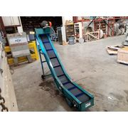 "Used 12"" wide x 11' Bilt-Rite Incline Cleated Chain Conveyor - CL-456"