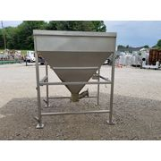 Used 50 Cubic Foot Stainless Steel MTC 3000 lb capacity Storage Dump Hopper