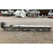 "Used 9"" Wide x 15' Long Stainless Steel Screw Auger Conveyor"