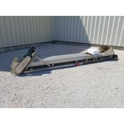 Used 18'' Wide x 16' Long Cleated Stainless Belt Conveyor w/ 12''x12'' Magnet