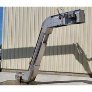 "Used 9"" W x 15'L Stainless Steel Sanitary cleated incline belt conveyor elevator"