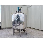 Used 1,800 gallon Stainless Steel Scraper Agitator Mix Tank Kettle