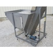 "Used 17"" W x 11' l Inclined Stainless Steel Cleated Belt Conveyor Elevator Lift"