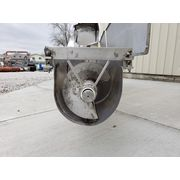 "Used MTC 14"" dia. X 14' Long Stainless Inclined Screw Auger Feeder with Hopper"