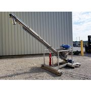 "4"" x 12' long S. HOWES Stainless Inclined portable sanitary Screw Auger Conveyor"