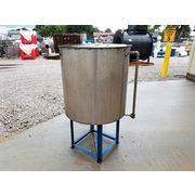 Used Stainless Steel Liquid Tank - 140 Gallon