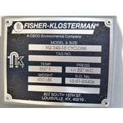 "Used 18""Ø Fisher-Klosterman High Efficiency Cyclone - XQ 240"