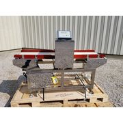 "Used Food Grade Sanitary Metal Detector with 14"" Wide x 60"" Long Belt Conveyor"