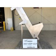 "Used 6""W Stainless Steel Incline Cleated Santitary Belt Conveyor"