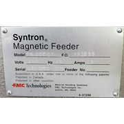 "Used 22"" W x 80"" L Stainless Steel Syntron Magnetic Vibrating Pan Feeder Dryer"