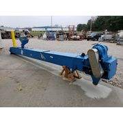 "Used 23' Long x 18"" Wide Inclined Cleated Belt Conveyor"