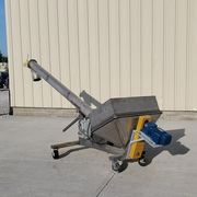 "Used 6"" dia. x 12' Long S. Howes Co. Stainless Incline Screw Auger Conveyor"