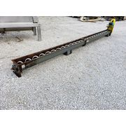 "Used 9"" dia. x 20' Long Screw Conveyor with UHMWPE Tipped Auger"