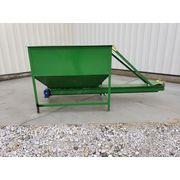 "Used 6"" dia. x 9.5' Long Screw Conveyor with 45 cu. ft. Load Hopper"