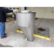 Used 15 Cubic Foot Aluminum Hopper with Rotary Paddle Bin Monitor