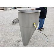 15 Cubic Foot Stainless Steel Hopper with Rotary Paddle Bin Monitor