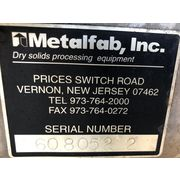"Used 4"" Metalfab Loss in Weight Weigh Screw Feeder"