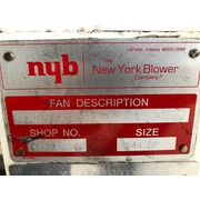 "Used 2,500 CFM @ 12"" SP New York Blower Fan NYB Size 144 BP Series 30 GI"