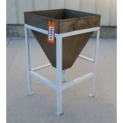 Used 2 Cubic Foot Stainless Steel Feed Hopper