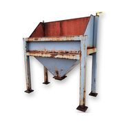 Used Carbon Steel Front End Loading Dump Bin Hopper 25 cu/ft